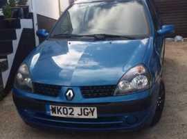 Renault Clio, 2002 (02) Blue Hatchback, Manual Diesel, 141,000 miles