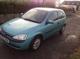Vauxhall Corsa, 2003 (52) Green Hatchback, Manual Petrol, 49,552 miles