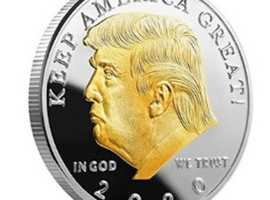 Get Free Gold Plated Trump Coin