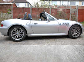 BMW Z SERIES, 2002 (02) Silver Convertible, Manual Petrol, 114,000 miles