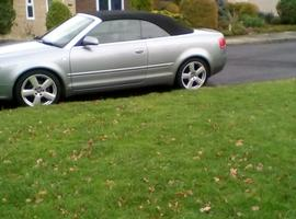 Audi A4, 2007 (57) Grey Convertible, Manual Diesel, 102,000 miles