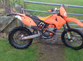 KTM 250 EXC M/X ENDURO 2006 .12 MONTHS MOT FULL V5 ROAD LEGAL NEW ENGINE.