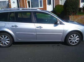 Renault Megane, 2008 (08) Silver Estate, Manual Diesel, 126,700 miles