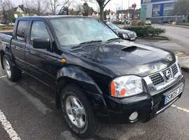 Nissan Navara, 2005 (05) Black 4x4, Manual Diesel, 98,000 miles
