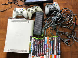 Xbox 360, camera, games