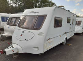 2005 Fleetwood Colchester 520/4EB caravan, air awning, free extras, ready to use now