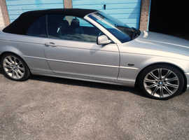 BMW 3 Series, 2001 (51) Silver Convertible, Automatic Petrol, 130,000 miles