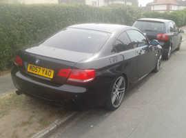 BMW 320, 2007 (57) black sports, Automatic Petrol, 105000 miles