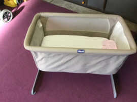 Chicco next to me side by side crib with mattress