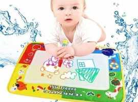 JYC 4COLOR WATER DRAWING MAT BOARD & MAGIC PEN DOODLE ON SALE.CLEARANCE KIDS TOY GIFT