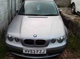 BMW 3 Series, 2003 (53) Grey Hatchback, Manual Petrol, 134,000 miles