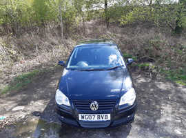 Volkswagen Polo, 2007 (07) Black Hatchback, Manual Petrol, 86,921 miles