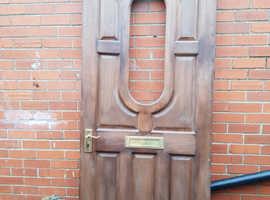 Front door - hardwood