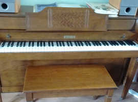 Baldwin spinet style (low) piano full 7 octave, 3 pedals plus storage stool