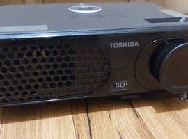 Rear view  Projector with screen