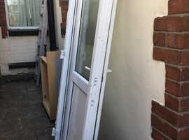 White pvc double glazed door