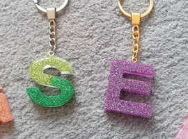 Handmade resin alphabet and number key chains