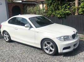 BMW 1 series, 2013 (13) White Coupe, Manual Diesel, 52,000 miles