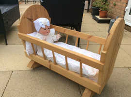 Wooden dolls cots
