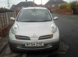 Nissan Micra, 2004 (54) Silver Hatchback, Manual Petrol, 95,000 miles