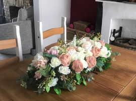 Top table wedding flower display