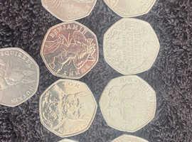 Beatrix potter 50p coin set