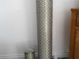 Colours Fret Design Brass/Bronze Effect Table & Floor Lamps