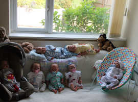Selection of new reborn baby dolls