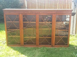 yew reproduction display cabinet