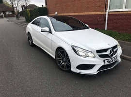 Mercedes E Class, 2016 (66) White Coupe, Automatic Diesel, 30,000 miles