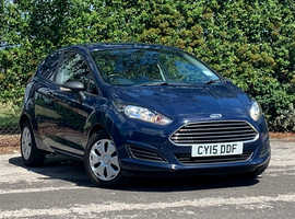 2015 (15) FORD FIESTA 1.5 TDCI BASE 3 Dr VAN in BLUE, ONLY 53K MILES, NEW MOT, NO VAT