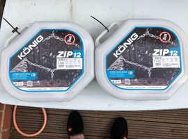 2 x SETS of KONIG ZIP 12 100 SNOW CHAINS (2 items)  NEW / UNUSED