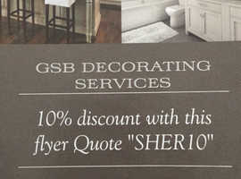 Painting - Decorating services available