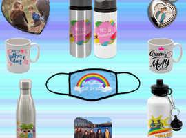 Create your own personalised mugs, keyrings & more!