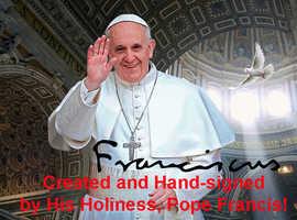 POPE FRANCIS T-shirt Sweatshirt Tank Top Hand-signed Photo Souvenir Hoodie Beanie Jersey Cap Gift Collectible Present Memorabilia Fan