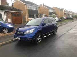 Honda CR-V, 2012 (12) Blue Estate, Manual Diesel, 57,000 miles