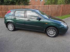 Ford Focus, 2004 (04) Green Hatchback, Manual Petrol, 45,000 miles