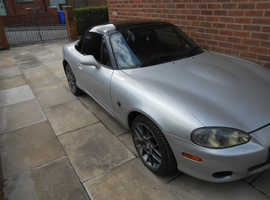 Mazda Mx5, 2004 (04) Silver Convertible, Manual Petrol, 64,000 miles