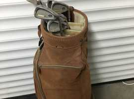 Faux Leather Golf Bag