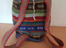 Canvas backpack. Large Aztec style