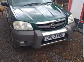 Mazda Tribute, 2002 (02) Green Estate, Manual Petrol, 98,000 miles