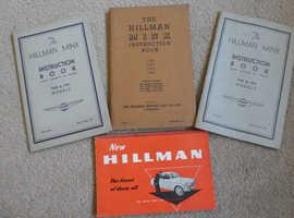 HILLMAN MINX INSTRUCTION BOOK 1941 & 1944