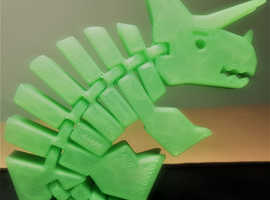 3D Printed Articulated Triceratops (Moving Dinosaur Toy) Tri-Flex-atops
