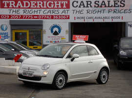 Fiat 500, 2013 (13) White Hatchback, Manual Petrol, 40,757 miles