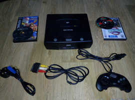 Sega Saturn Console - 1 x Controller - 2 x Games - Video & Power Cables - GWO