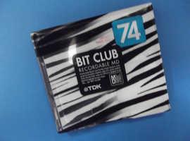 "RARE TDK Bit Club ""ZEBRA"" recordable collectible Minidisc"