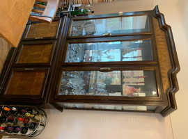 Colonial style display cabinet