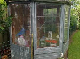 Wooden garden summer house