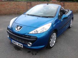 Peugeot 207, 2007 (07) Blue Coupe, Manual Petrol, 75,000 miles