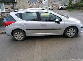 Peugeot 207, 2007 (57) Silver Estate, Manual Petrol, 102,000 miles